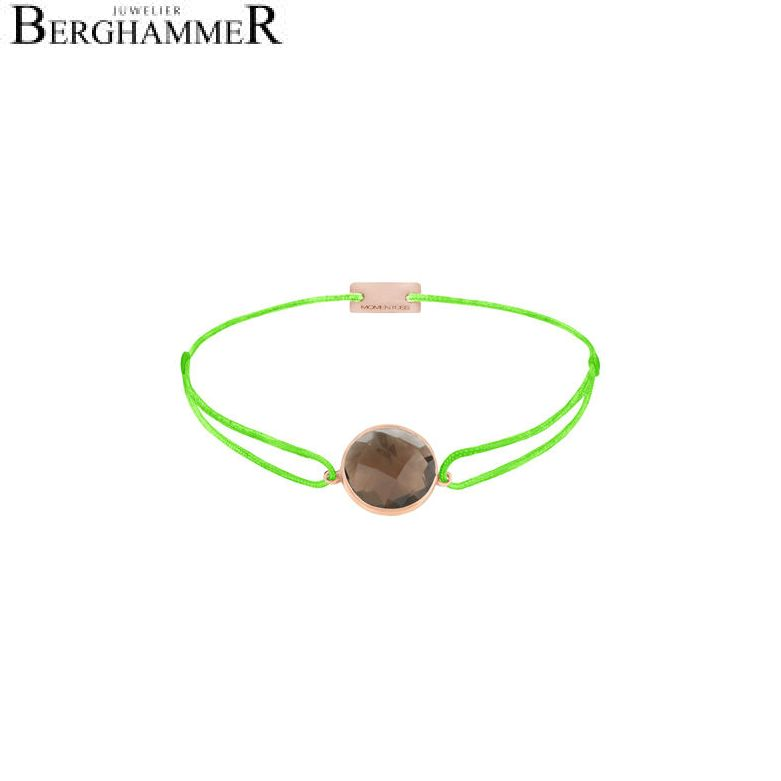 Filo Armband Textil Neon-Grün 925 Silber roségold vergoldet 21203074