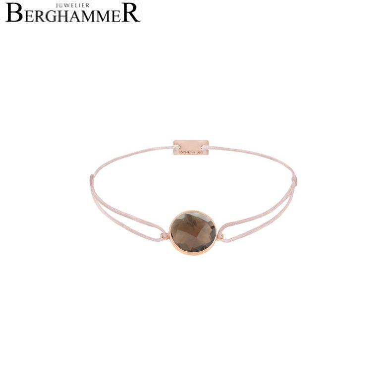 Filo Armband Textil Hellrosa 925 Silber roségold vergoldet 21203075