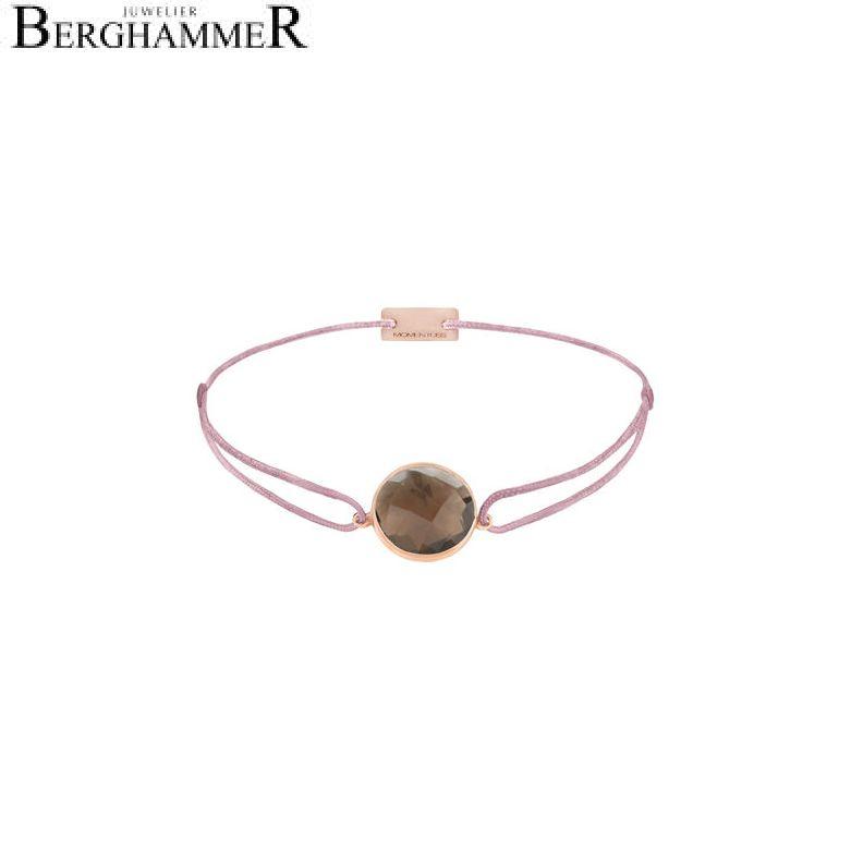 Filo Armband Textil Camel 925 Silber roségold vergoldet 21203076