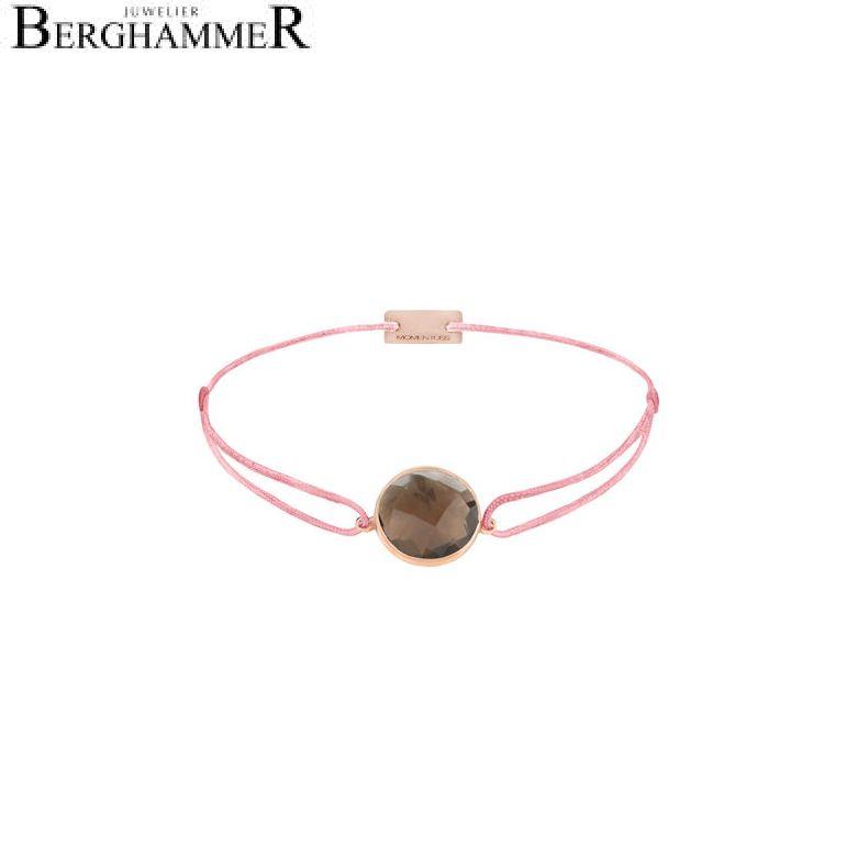 Filo Armband Textil Fuchsia 925 Silber roségold vergoldet 21203077