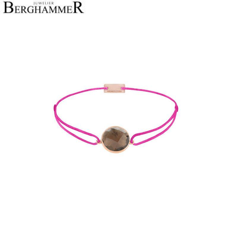 Filo Armband Textil Neon-Pink 925 Silber roségold vergoldet 21203078