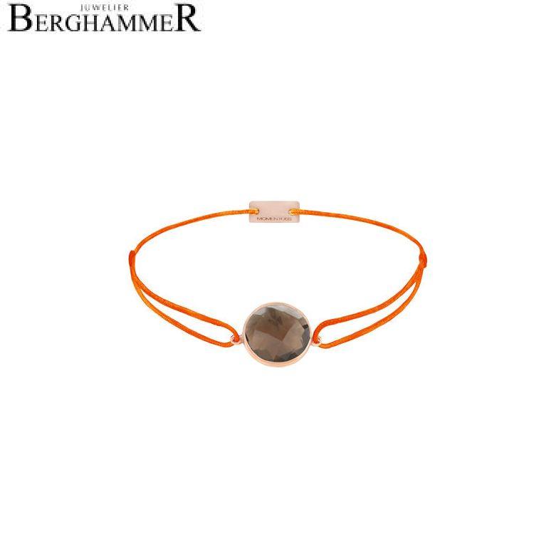Filo Armband Textil Neon-Orange 925 Silber roségold vergoldet 21203079