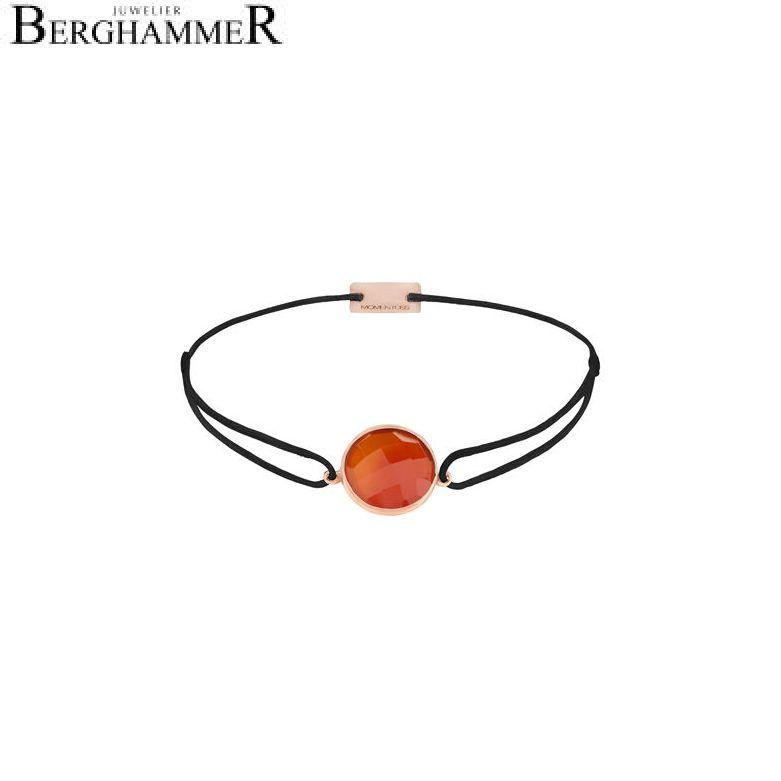 Filo Armband Textil Schwarz 925 Silber roségold vergoldet 21203081