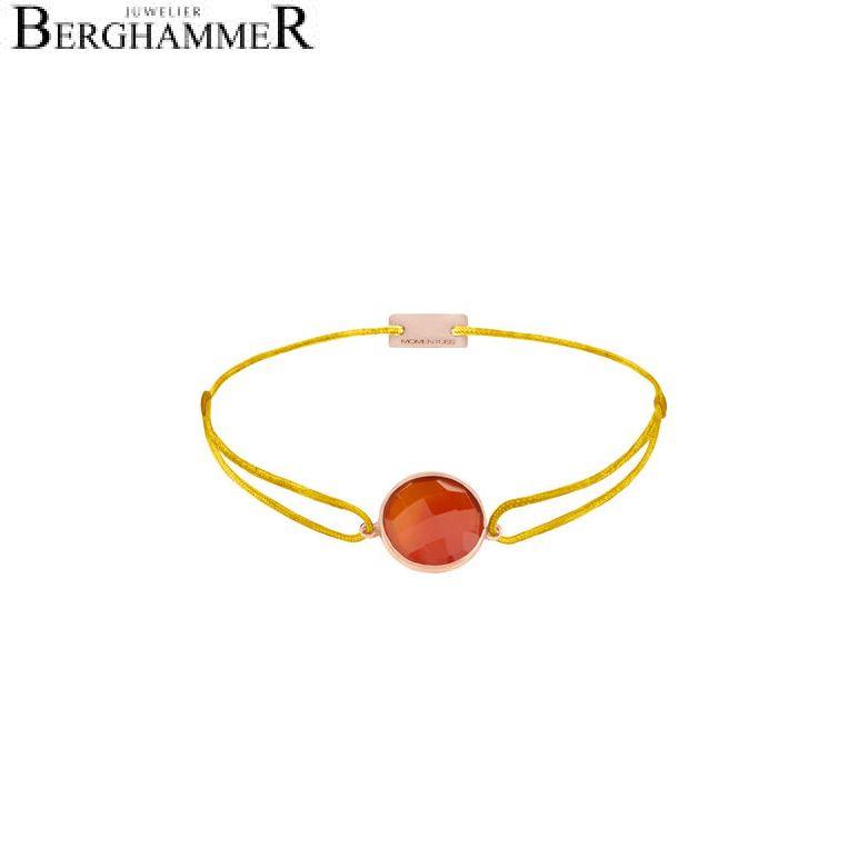 Filo Armband Textil Gelb 925 Silber roségold vergoldet 21203085