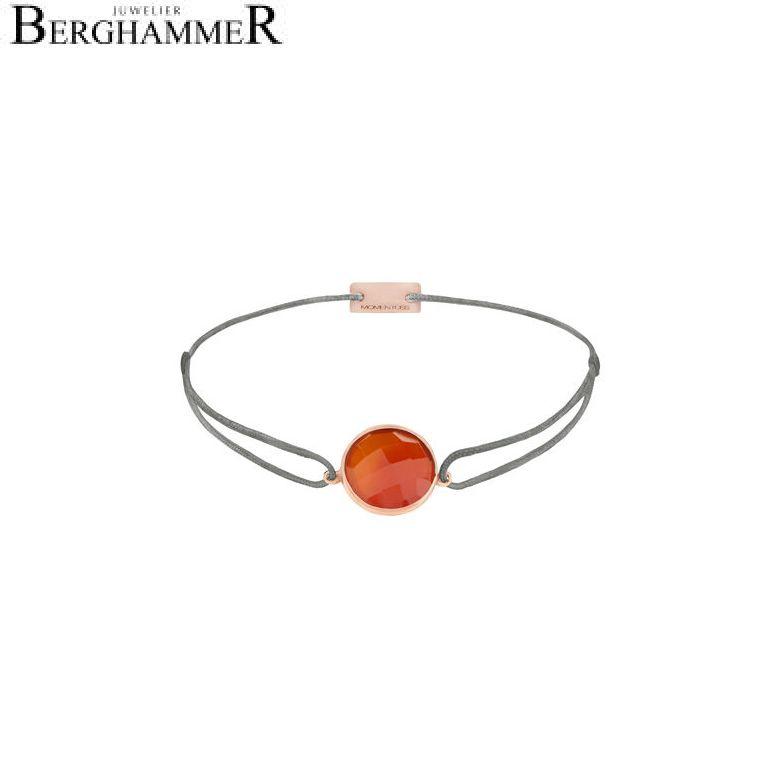 Filo Armband Textil Anthrazit 925 Silber roségold vergoldet 21203089