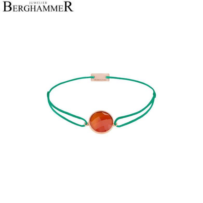 Filo Armband Textil Grasgrün 925 Silber roségold vergoldet 21203097