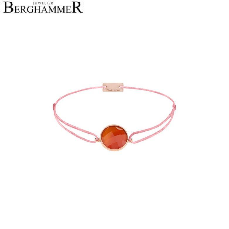 Filo Armband Textil Fuchsia 925 Silber roségold vergoldet 21203101