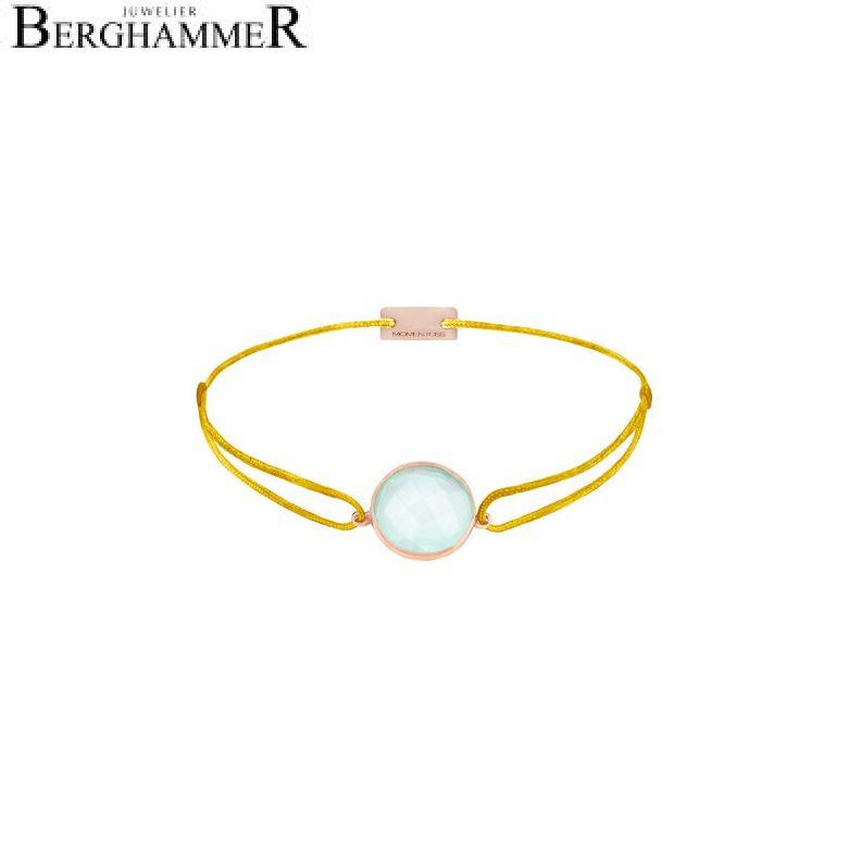 Filo Armband Textil Gelb 925 Silber roségold vergoldet 21203109