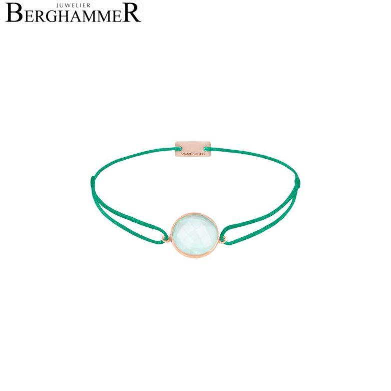 Filo Armband Textil Grasgrün 925 Silber roségold vergoldet 21203121