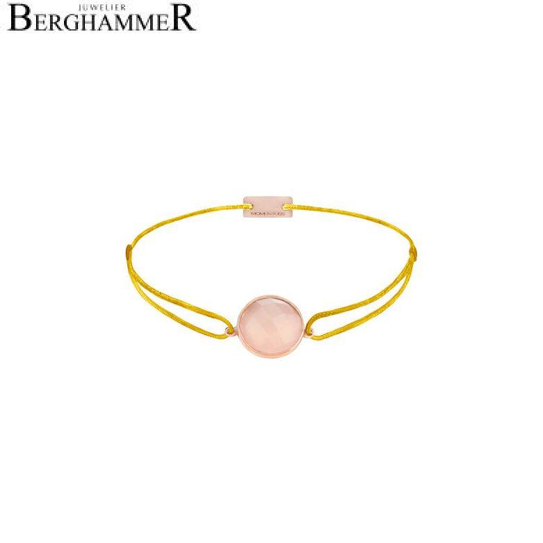 Filo Armband Textil Gelb 925 Silber roségold vergoldet 21203133