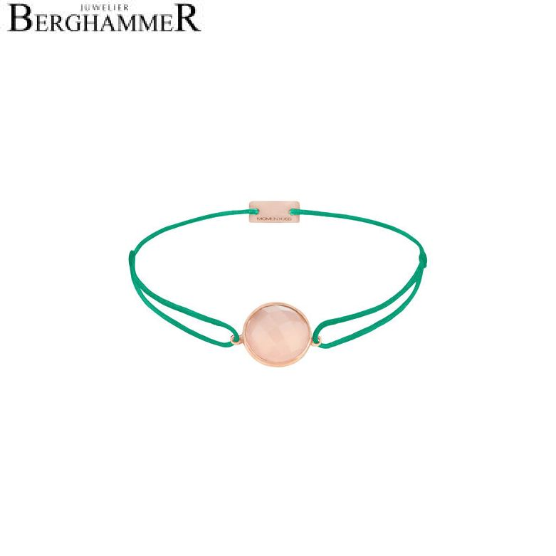 Filo Armband Textil Grasgrün 925 Silber roségold vergoldet 21203145