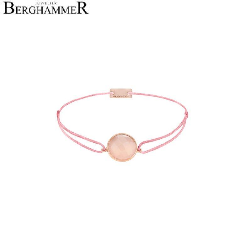 Filo Armband Textil Fuchsia 925 Silber roségold vergoldet 21203149
