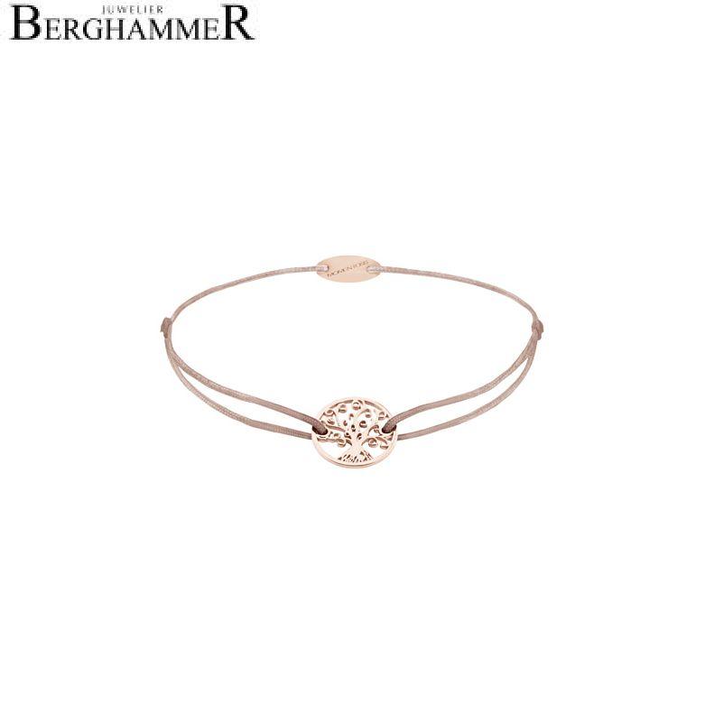 Filo Armband Textil Beige Lebensbaum 750 Gold roségold 21203153