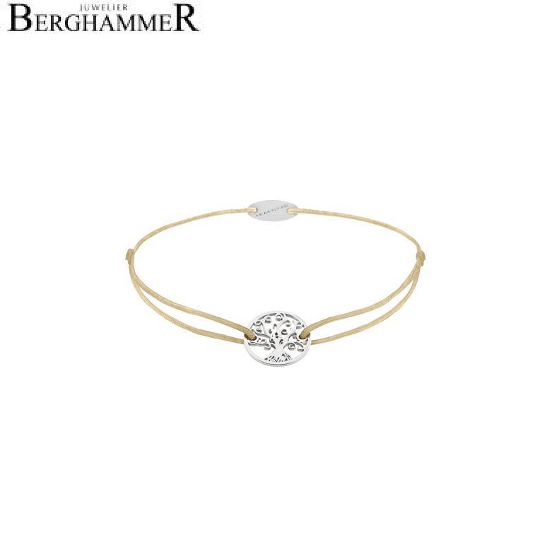 Filo Armband Textil Champagne Lebensbaum 750 Gold weißgold 21203174