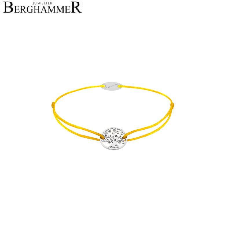 Filo Armband Textil Gelb Lebensbaum 750 Gold weißgold 21203177