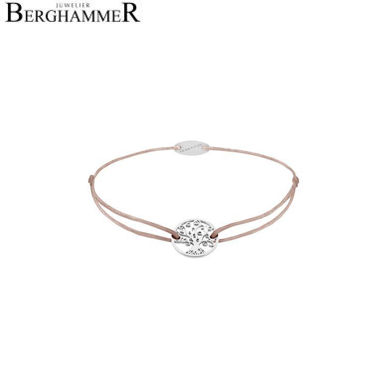 Filo Armband Textil Beige Lebensbaum 750 Gold weißgold 21203178