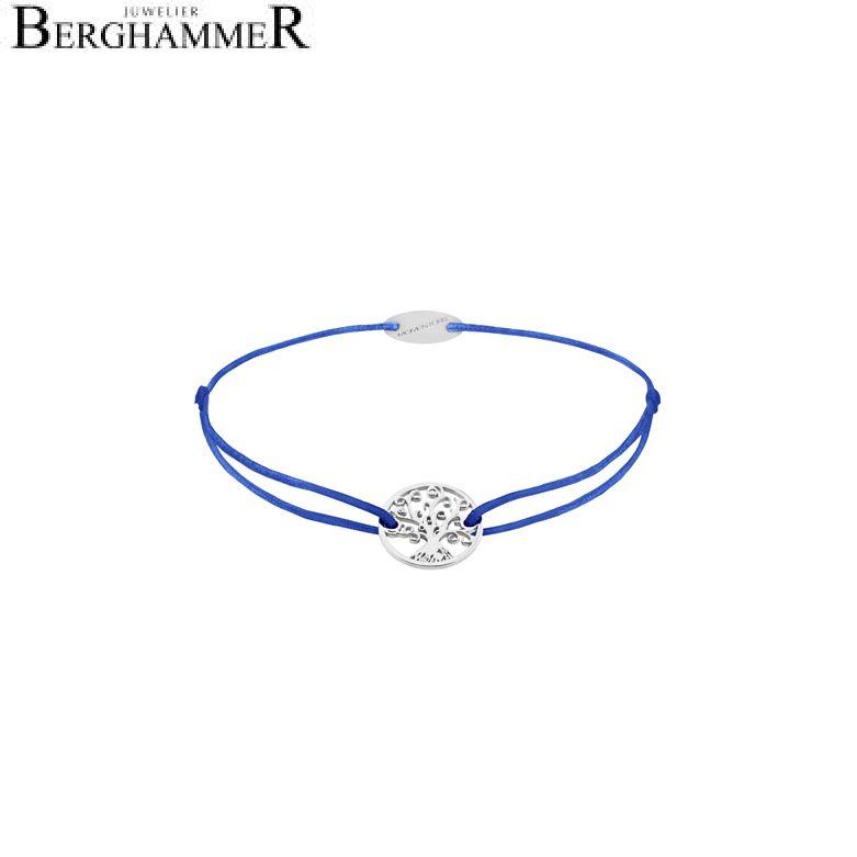 Filo Armband Textil Blitzblau Lebensbaum 750 Gold weißgold 21203185