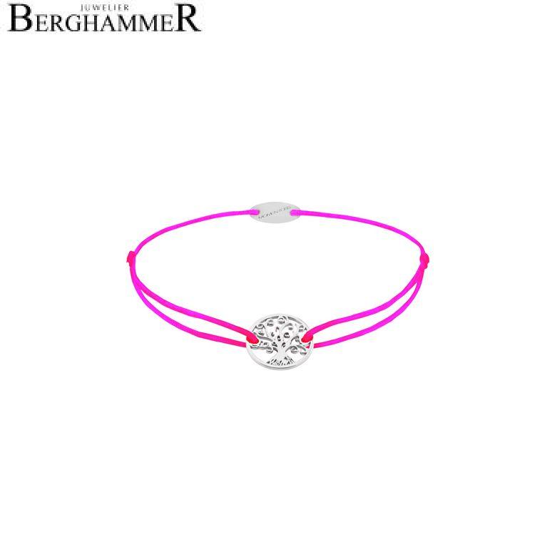 Filo Armband Textil Neon-Pink Lebensbaum 750 Gold weißgold 21203193