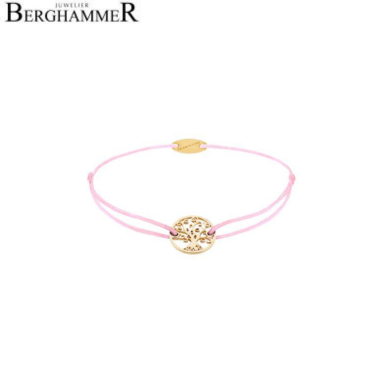Filo Armband Textil Rosa Lebensbaum 750 Gold gelbgold 21203198