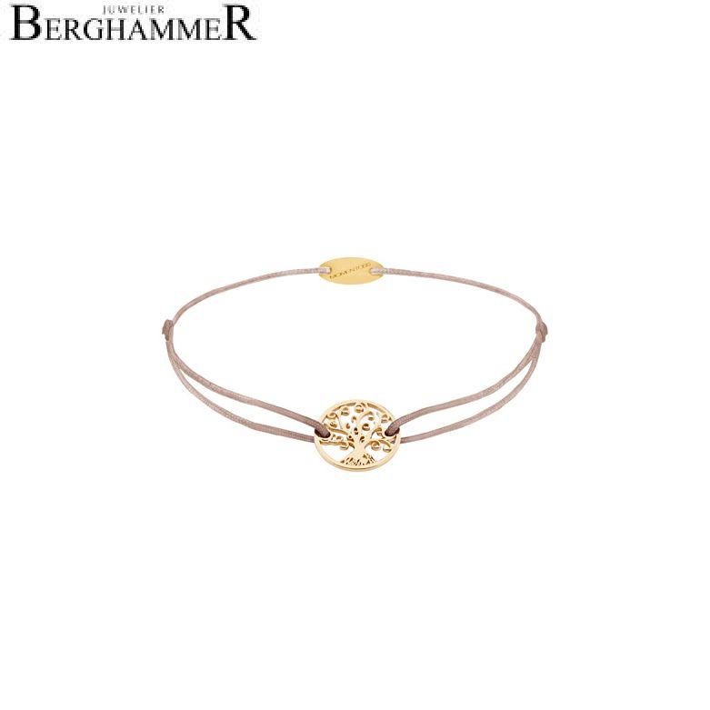 Filo Armband Textil Beige Lebensbaum 750 Gold gelbgold 21203201
