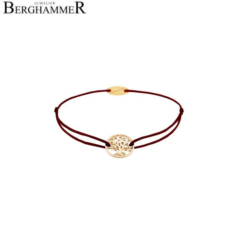 Filo Armband Textil Braun Lebensbaum 750 Gold gelbgold 21203202