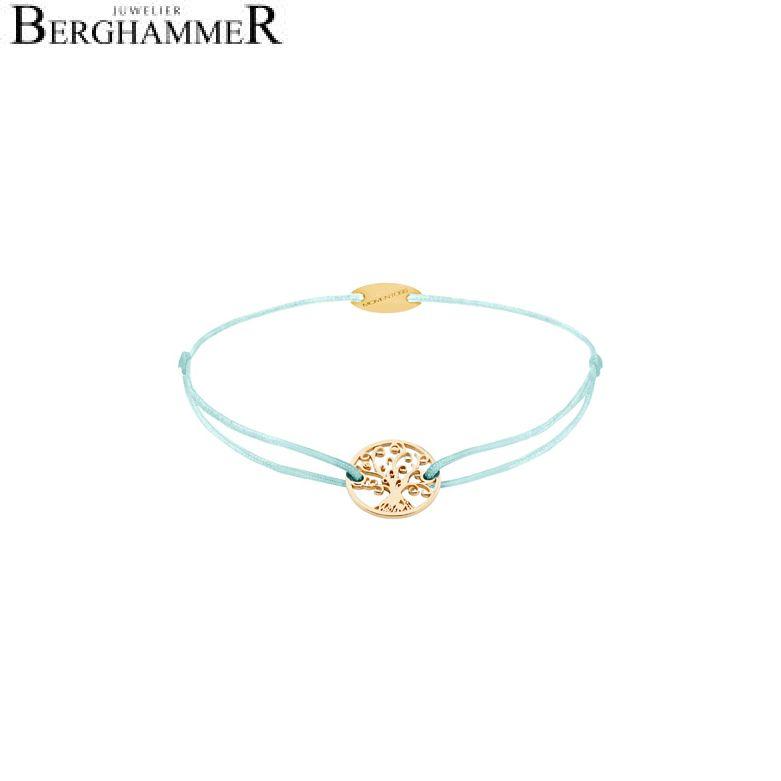 Filo Armband Textil Mint Lebensbaum 750 Gold gelbgold 21203206