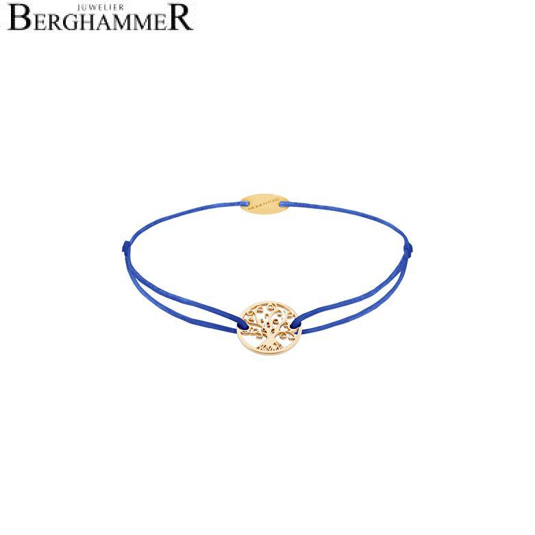 Filo Armband Textil Blitzblau Lebensbaum 750 Gold gelbgold 21203209