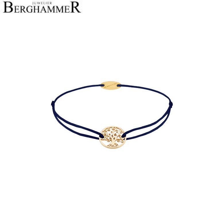 Filo Armband Textil Dunkelblau Lebensbaum 750 Gold gelbgold 21203210