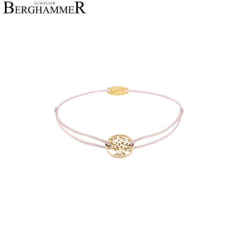 Filo Armband Textil Hellrosa Lebensbaum 750 Gold gelbgold 21203214