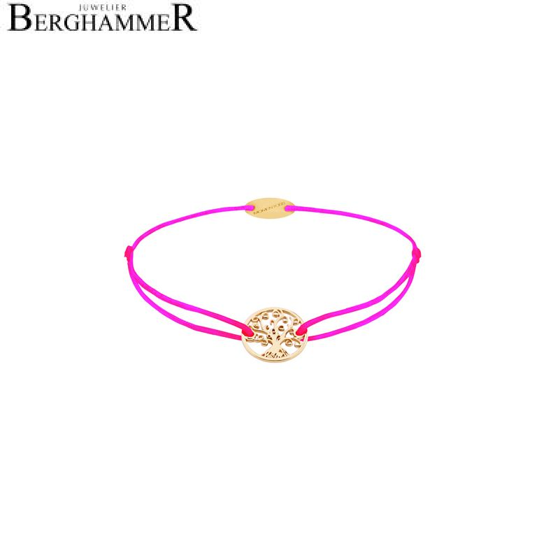 Filo Armband Textil Neon-Pink Lebensbaum 750 Gold gelbgold 21203217