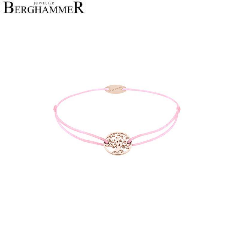 Filo Armband Textil Rosa Lebensbaum 750 Gold roségold 21203222