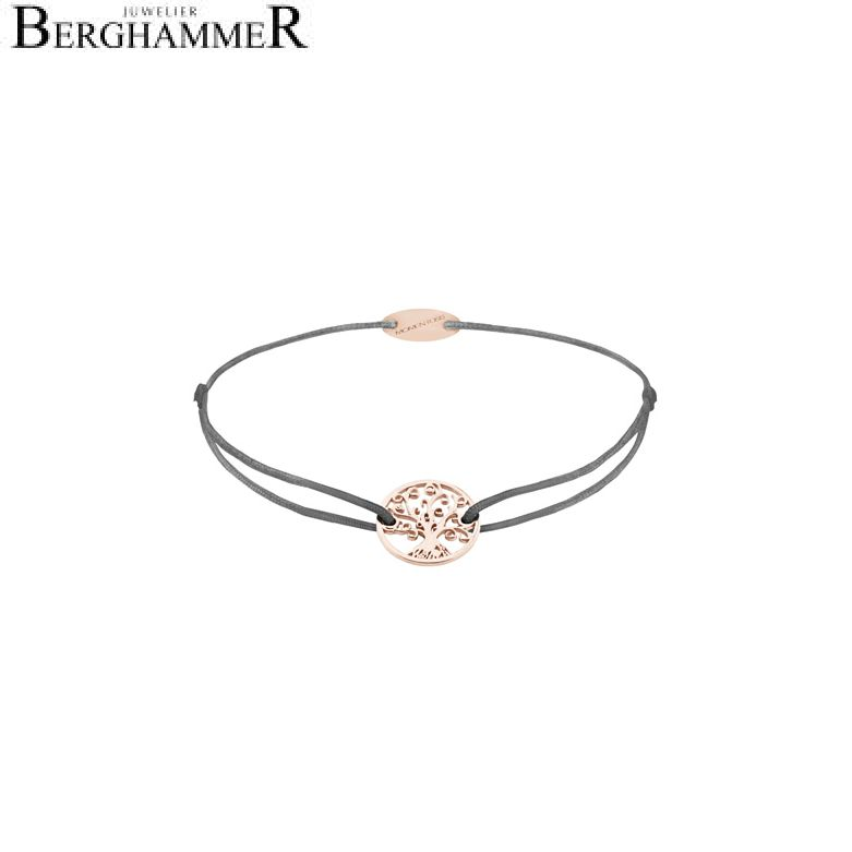 Filo Armband Textil Anthrazit Lebensbaum 750 Gold roségold 21203226