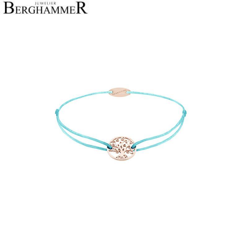 Filo Armband Textil Hellblau Lebensbaum 750 Gold roségold 21203230