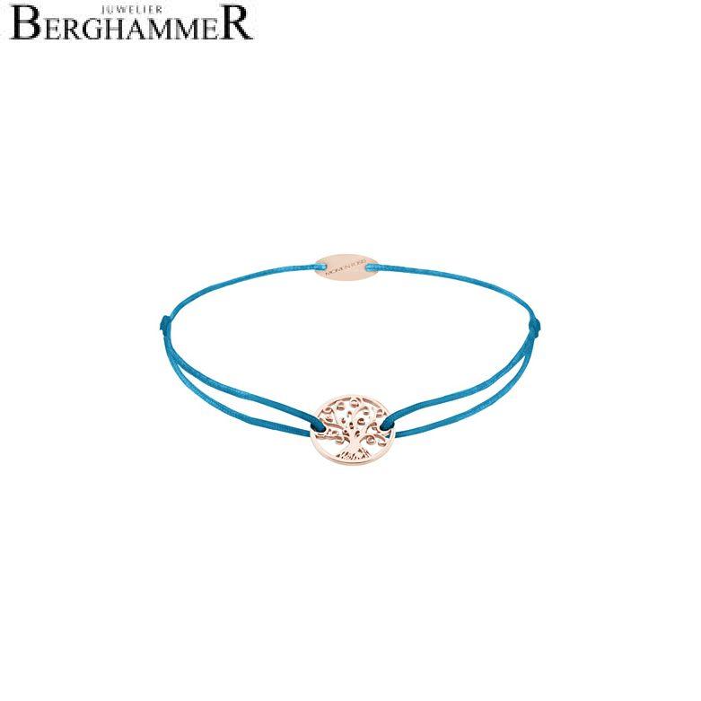 Filo Armband Textil Petrol Lebensbaum 750 Gold roségold 21203233