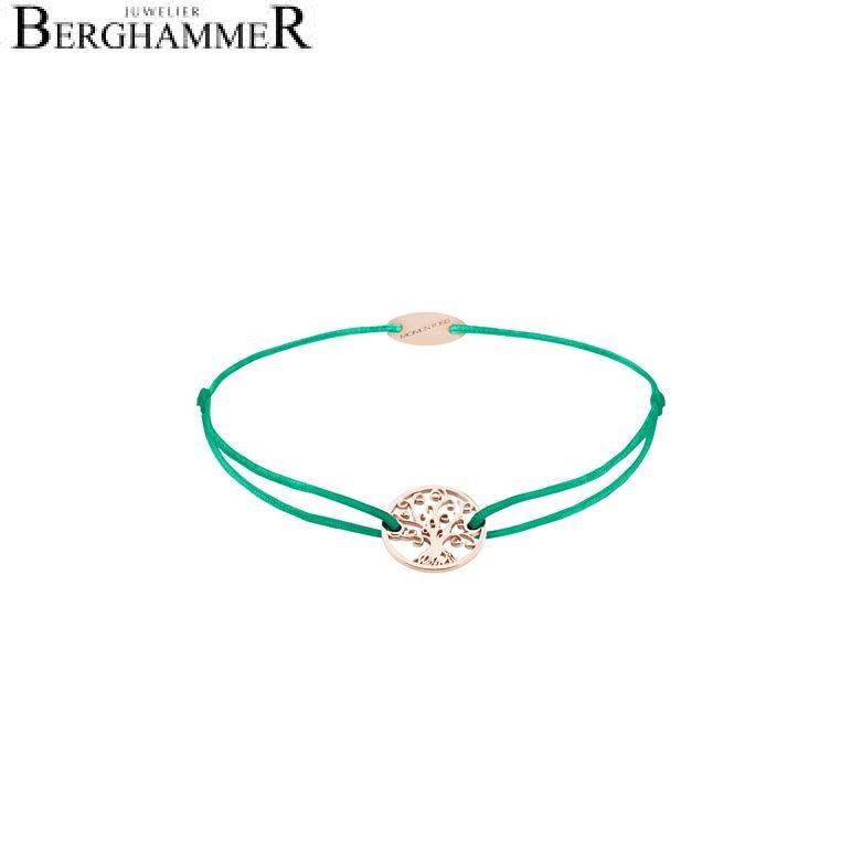 Filo Armband Textil Grasgrün Lebensbaum 750 Gold roségold 21203234