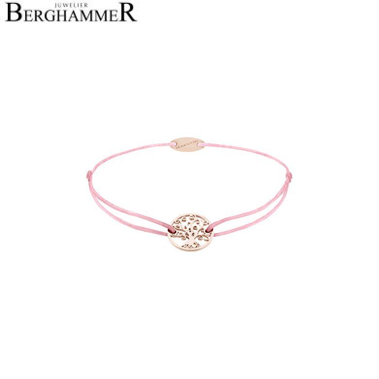 Filo Armband Textil Fuchsia Lebensbaum 750 Gold roségold 21203238