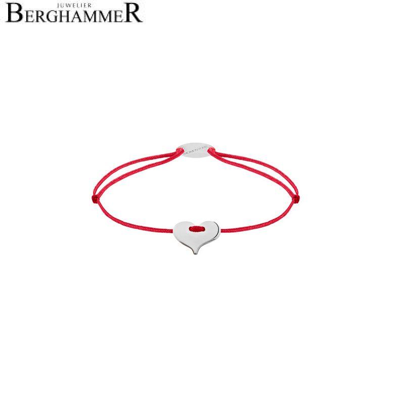 Filo Armband Textil Rot Herz 750 Gold weißgold 21203313
