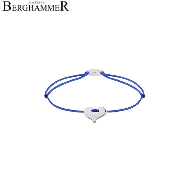 Filo Armband Textil Blitzblau Herz 750 Gold weißgold 21203331