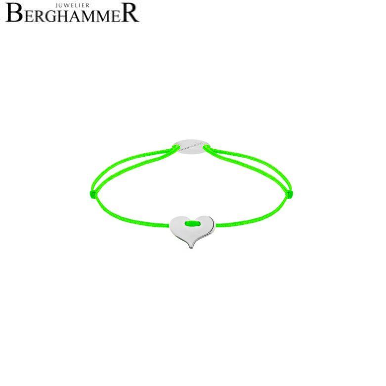 Filo Armband Textil Neon-Grün Herz 750 Gold weißgold 21203335