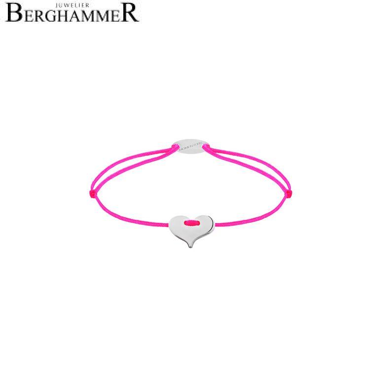 Filo Armband Textil Neon-Pink Herz 750 Gold weißgold 21203339