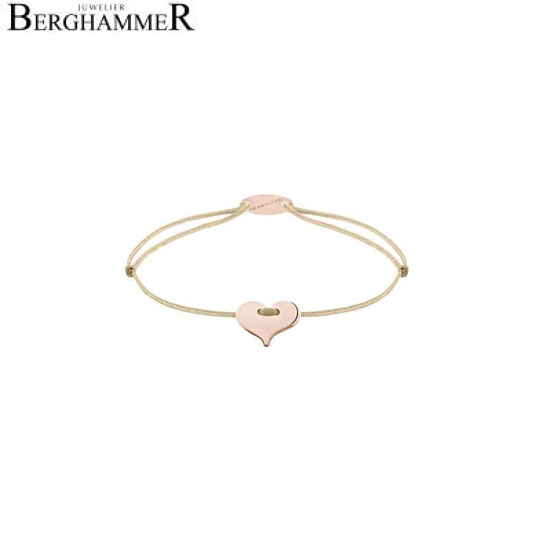 Filo Armband Textil Champagne Herz 750 Gold roségold 21203367