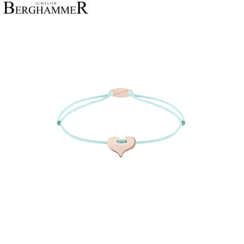 Filo Armband Textil Mint Herz 750 Gold roségold 21203375