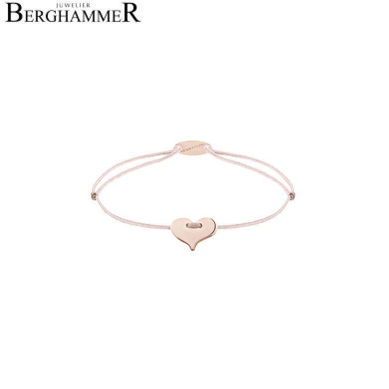 Filo Armband Textil Hellrosa Herz 750 Gold roségold 21203383