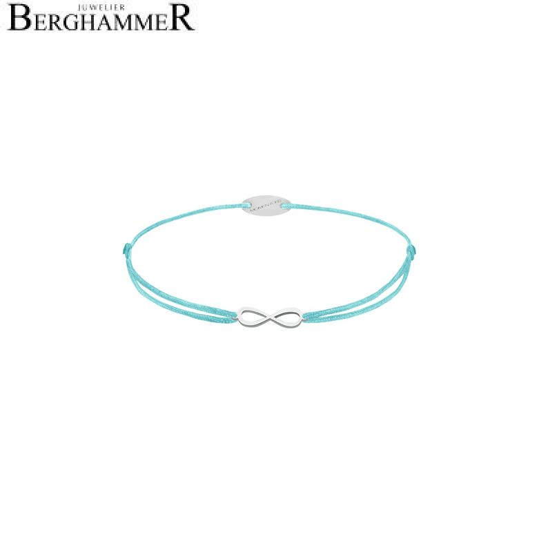 Filo Armband Textil Hellblau Infinity 750 Gold weißgold 21203399