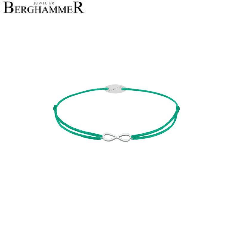 Filo Armband Textil Grasgrün Infinity 750 Gold weißgold 21203403