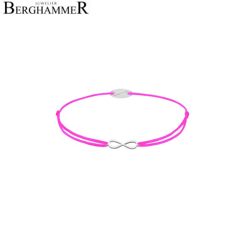Filo Armband Textil Neon-Pink Infinity 750 Gold weißgold 21203408