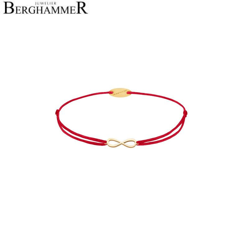 Filo Armband Textil Rot Infinity 750 Gold gelbgold 21203410