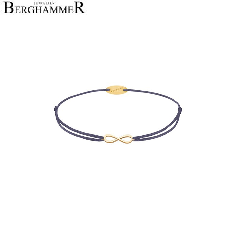 Filo Armband Textil Grau-Lila Infinity 750 Gold gelbgold 21203418