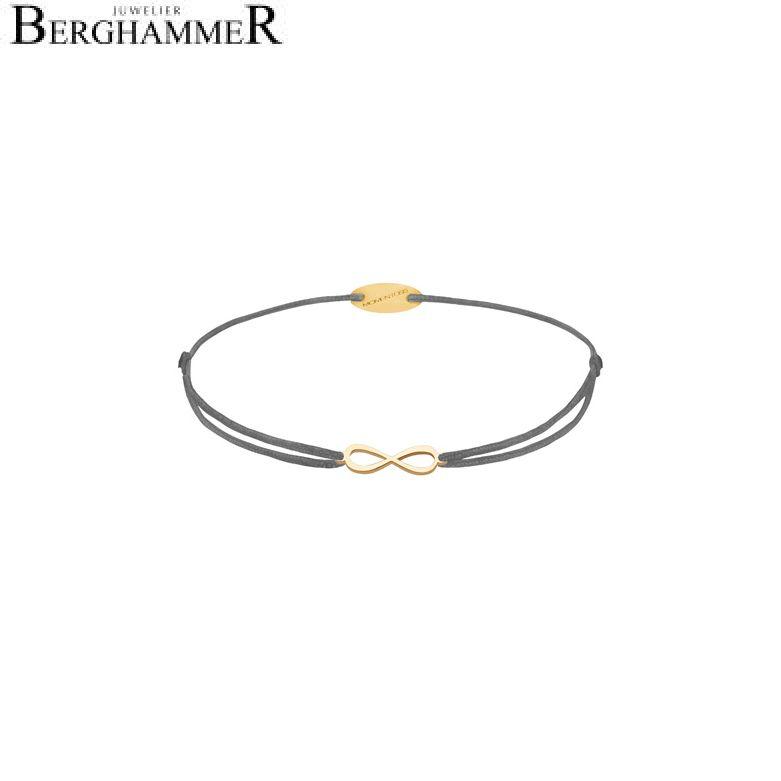 Filo Armband Textil Anthrazit Infinity 750 Gold gelbgold 21203419