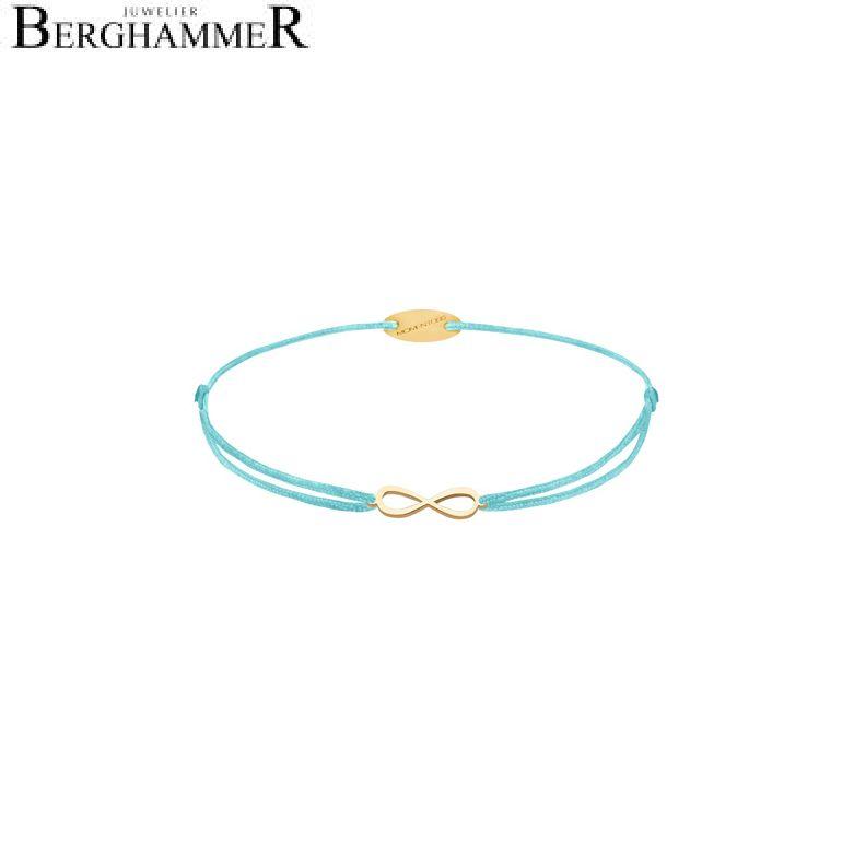 Filo Armband Textil Hellblau Infinity 750 Gold gelbgold 21203423